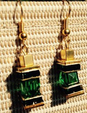 TraumhafteLuxus Ohrringe Ohrhänger in gold und Smaragd