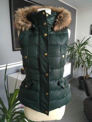 Mint&berry Hooded Vest gold-colored-green