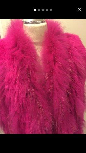 Smanicato di pelliccia magenta-rosa Pelliccia