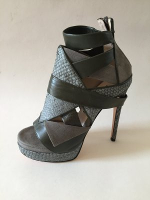 High-Heeled Sandals khaki-dark green
