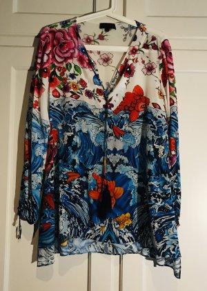 Hale Bob Silk Blouse multicolored silk