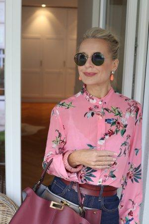 Joyce & Girls Zijden blouse veelkleurig