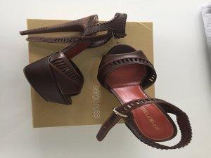 Traumhafte Sergio Rossi-  Plateau Sandals - Schokobraun