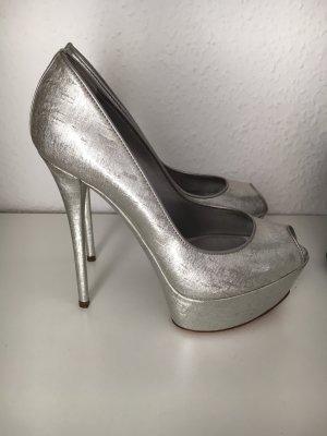 Traumhafte, silberne high heels von Casadei in Gr. 6 (36)