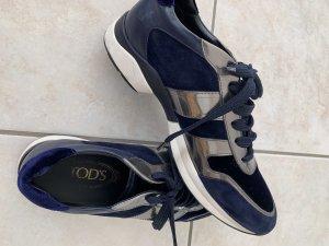 Traumhafte Sneaker von Tod's in dunkelblau  mit silber Gr. 39