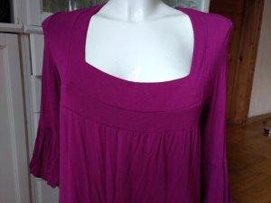 Camicia a tunica viola-magenta