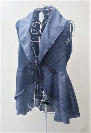 Elisa Cavaletti Sleeveless Blouse slate-gray-blue