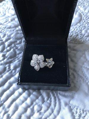 Traumhafter Brillant Diamant Ring mit Blumen Statementring Cocktailring