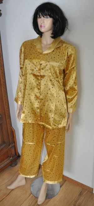 Pyjama orange doré tissu mixte