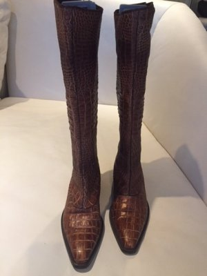 traumhafter Designer Stiefel von DENKSTEIN - braun- echt Leder