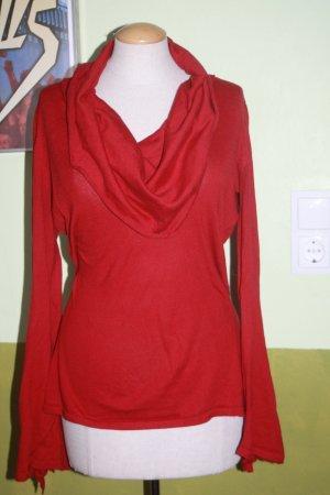 traumhafter Pullover Anastasia by S.Oliver 38 rot Trompetenärmel Wasserfallkragen
