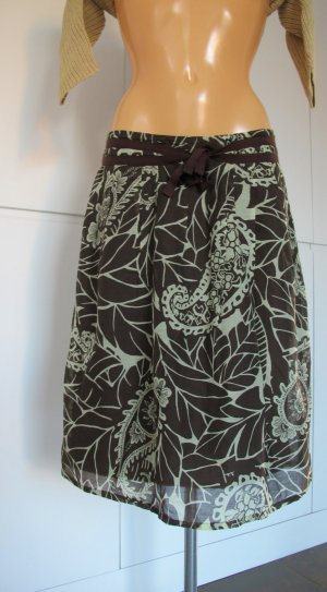 Bernd Berger Tulip Skirt sage green-dark brown mixture fibre