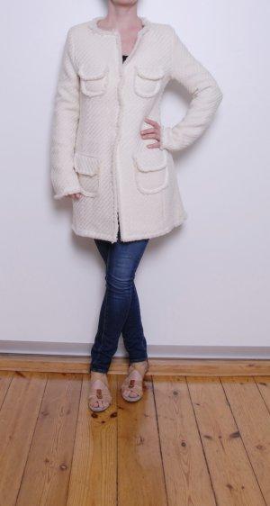 Cappotto in lana bianco sporco Lana