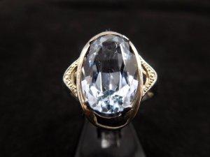 Traumhafter Topas Sterling Art Deco Jugendstil echt Silber Silberring Vintage