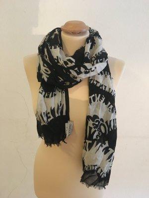 Valentino Scarf black-white silk