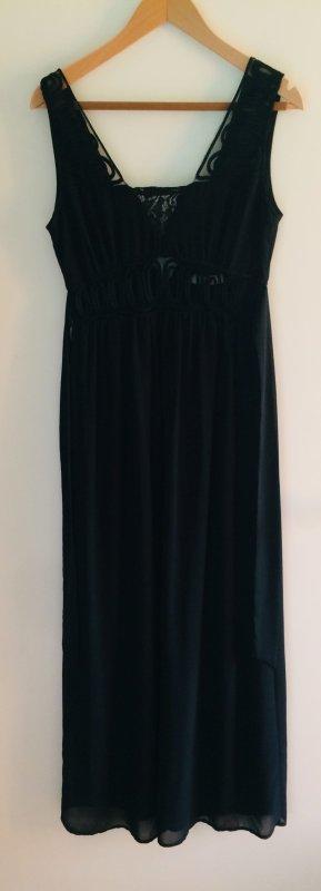 Traumhaftes Abendkleid - Chiffonkleid - bodenlanges Kleid, schwarz, Gr.38/M