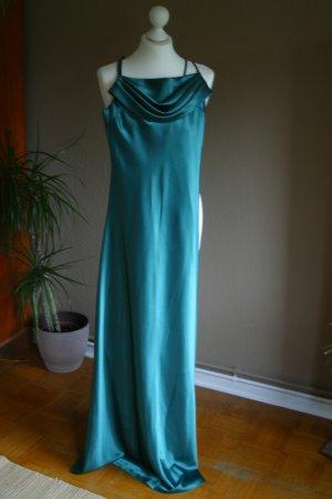 Traumhaftes Abendkleid in einem tollem Grün mit Stola