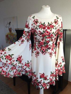 Traumhaftes Blumenkleid H&M für Gr. 36/38 weiß pink Blumen