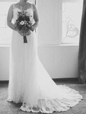 Wedding Dress oatmeal-white mixture fibre