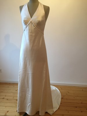 Traumhaftes Brautkleid mit Schleppe Neckholder Seide schlicht und elegant 36 Joop