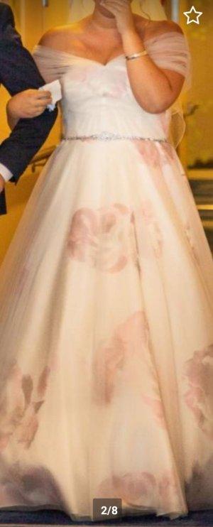 Robe de mariée violet-blanc cassé