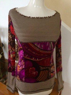 Traumhaftes Designershirt *LULU H* irre schönes Farbdesign 36/38