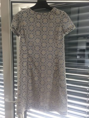 .Onorati Shortsleeve Dress azure-white mixture fibre