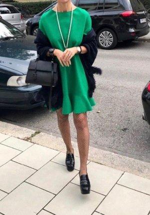 Volante jurk bos Groen