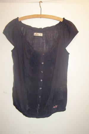 Hollister Carmen Shirt dark blue cotton