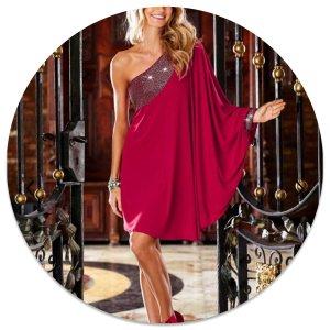 Traumhaftes neues One-Shoulder-Kleid Gr .M 38/40