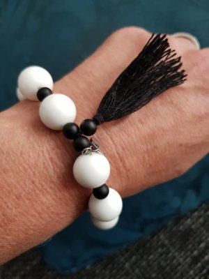 Pearl Bracelet white-black