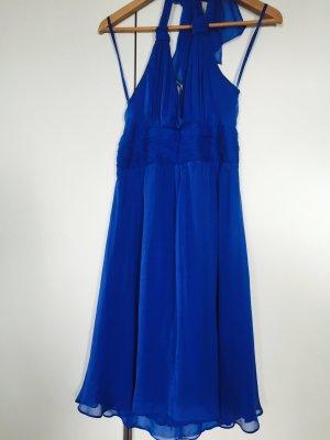 Traumhaftes, Royal blaues Neckholderkleid von Hallhuber in Gr.38