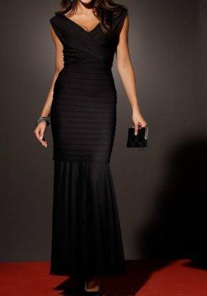 traumhaftes, schwarzes Abendkleid, K-Größe