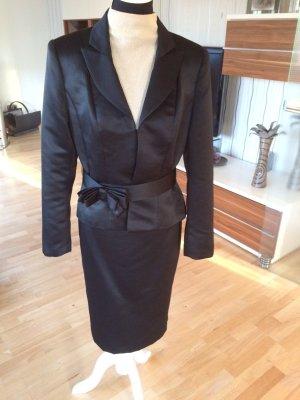 Traumhaftes schwarzes Kostüm von Barbara Schwarzer (Gr. 40/42)