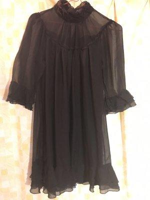 Traumhaftes Seidenkleid, schwarz, S