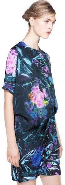 Acne Mini vestido multicolor Seda