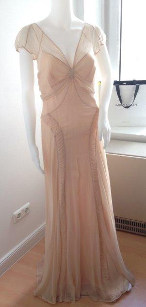 Traumhaftes, ungetragenes MOSCHINO Kleid aus Seide in Nude, Größe 38