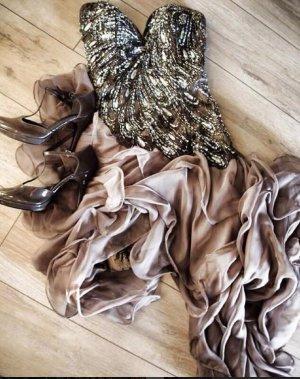 Traumhaftes Unique Kleid Größe 34 mit Schleppe