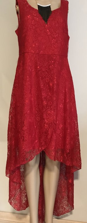 Ashley Brooke High Low Dress red