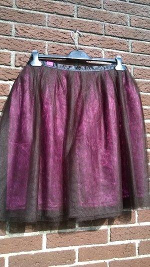 Vintage Falda de tafetán multicolor Sintético