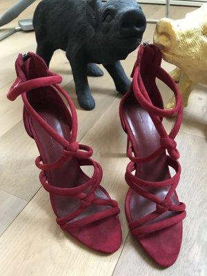 Traumschöne High Heels Pumps von ZARA , rot, Gr.38, neuwertig