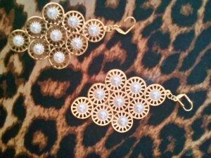 Traumschöne Perlenohrhänger in gold