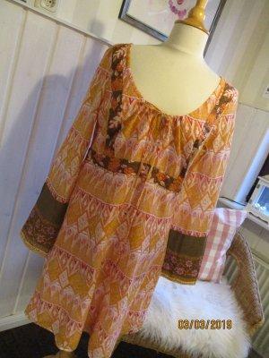 edc by Esprit Vestido tipo túnica naranja-marrón Algodón