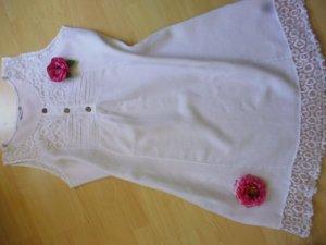 Sure Robe tunique blanc lin