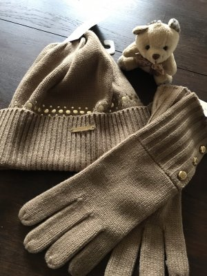 Michael Kors Knitted Hat camel-gold-colored