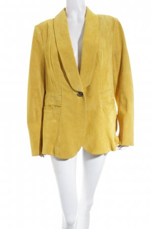 Travel Couture by Heine Leder-Blazer dunkelgelb Casual-Look