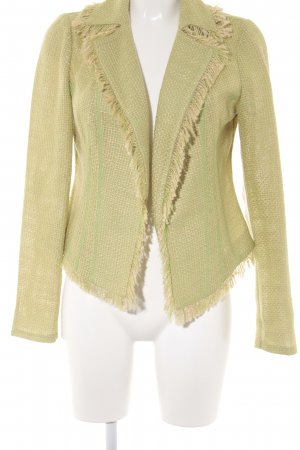 Travel Couture by Heine Tweedblazer wiesengrün-creme Fransenbesatz