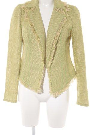 Travel Couture by Heine Blazer in tweed verde prato-crema accessori in frange