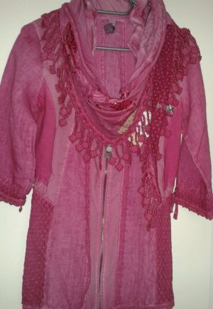 Tredy Blouse Jacket magenta-pink linen