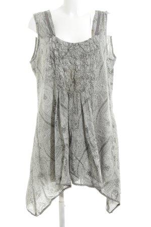 Tredy A-Linien Kleid hellgrau abstraktes Muster Casual-Look